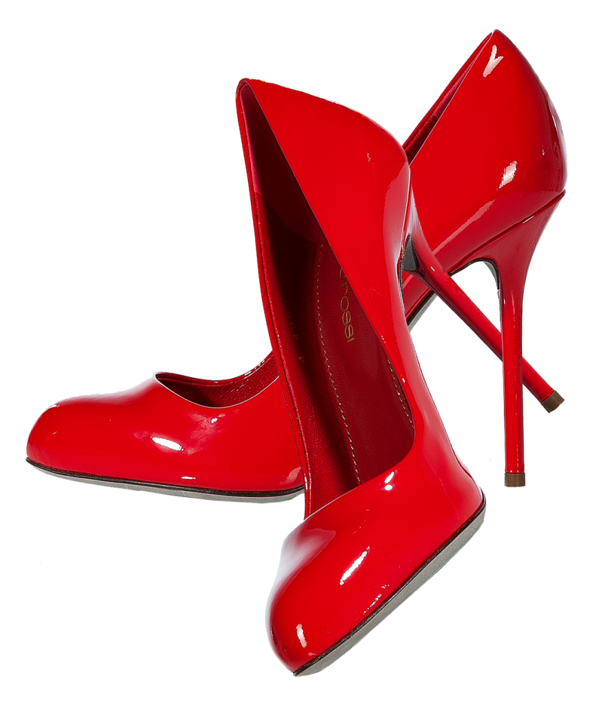 Red High Heel Shoes PNG Image