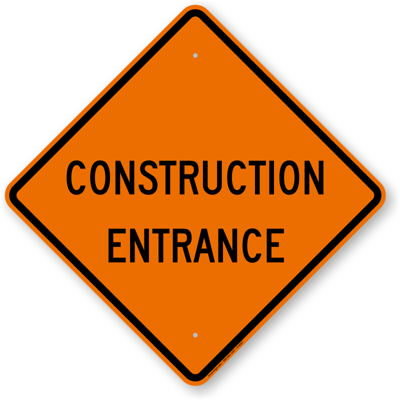 Construction Sign Image Free Transparent Image HQ PNG Image