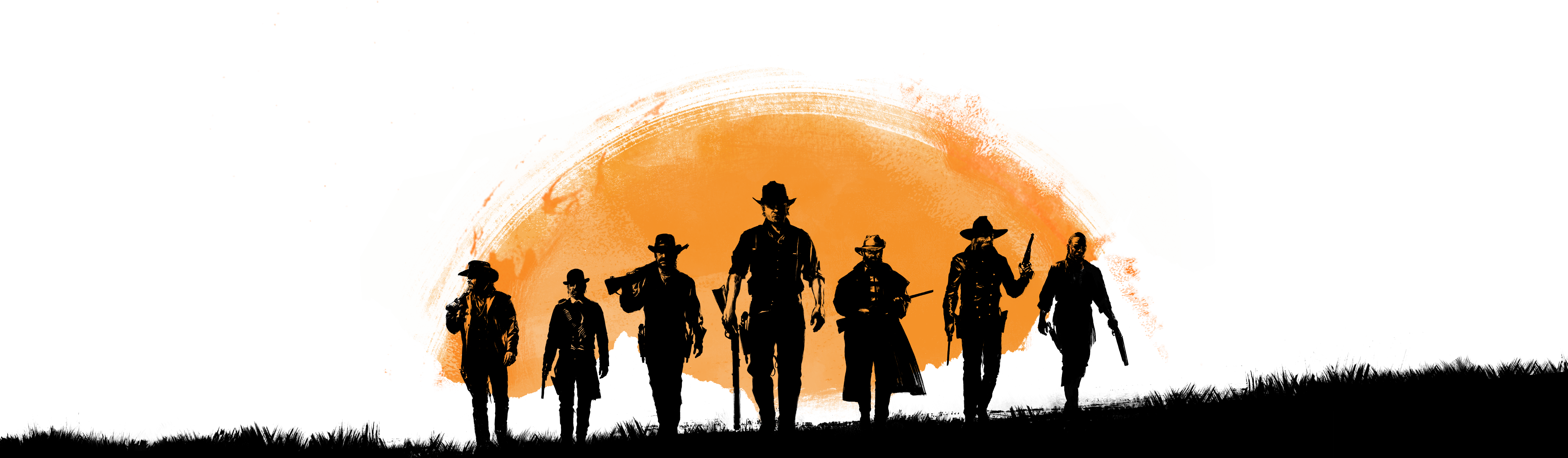 Silhouette Redemption Auto Dead Theft Grand Orange PNG Image