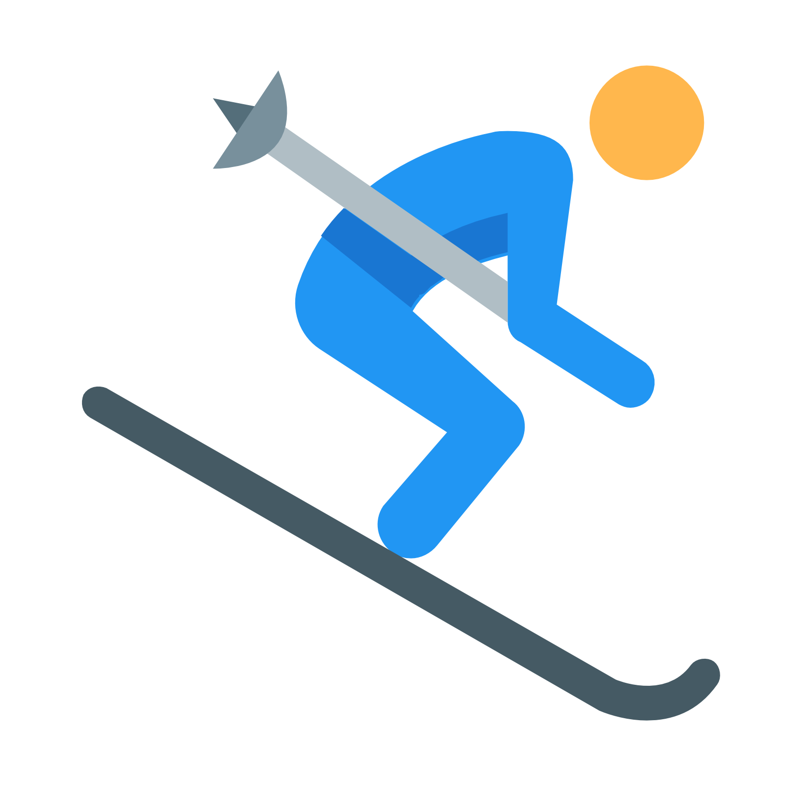 Skiing Transparent Background PNG Image