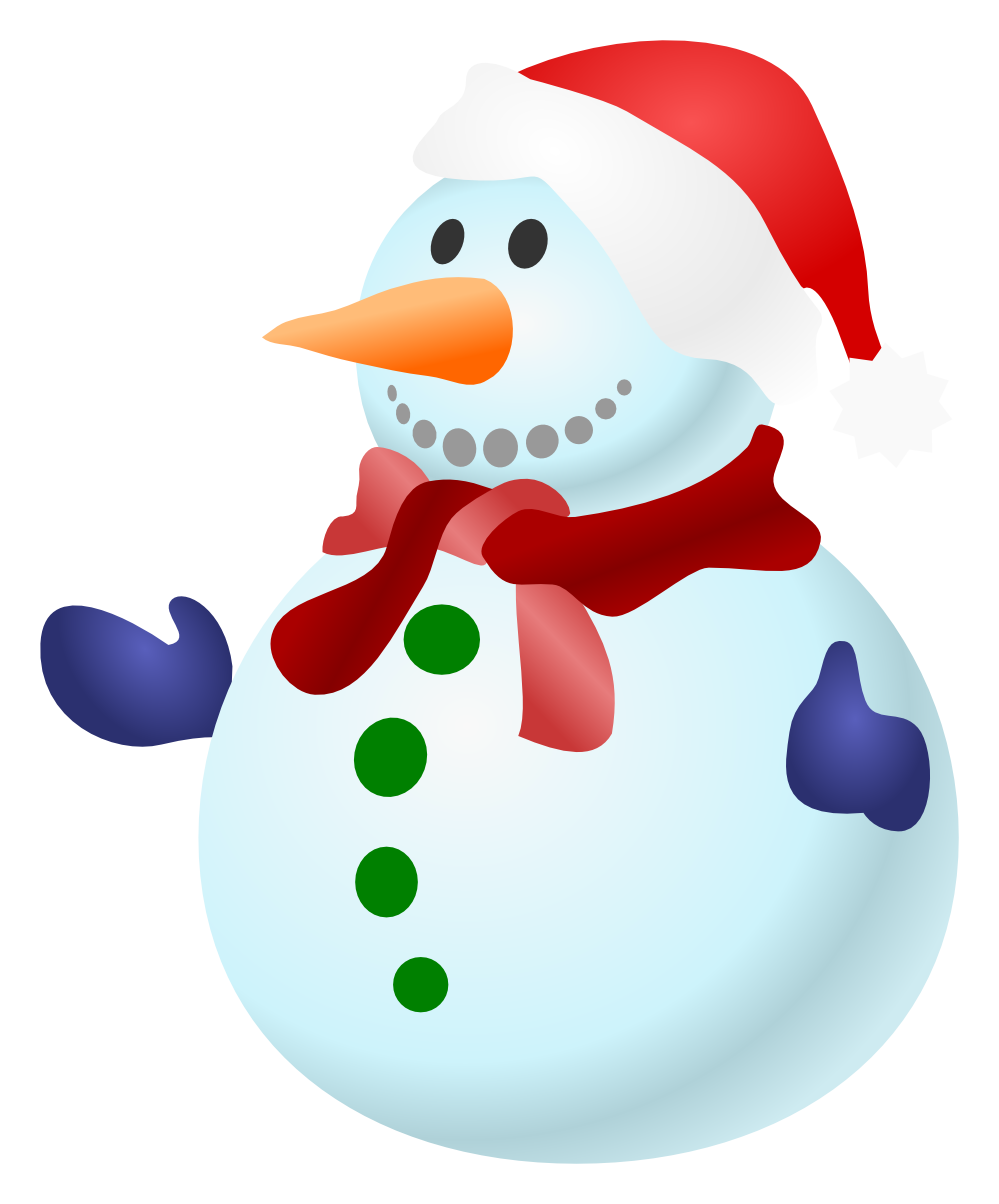 Beautiful Snowman PNG Image