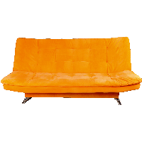 Orange Sofa Png Image PNG Image