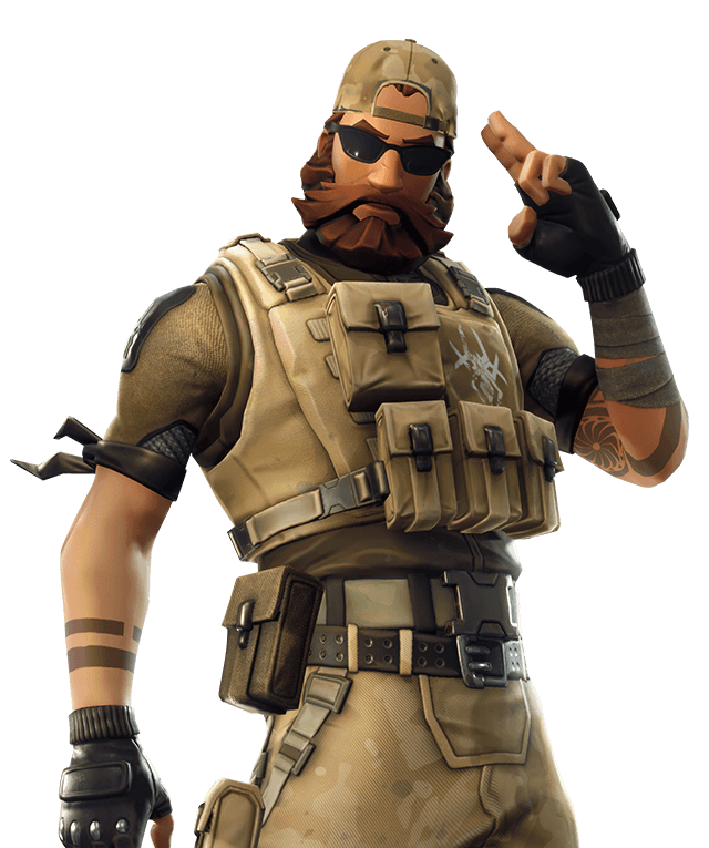 Soldier Royale Figurine Fortnite Pass Battle PNG Image