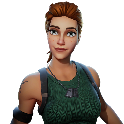 Brown Hair Royale Game Figurine Video Fortnite PNG Image
