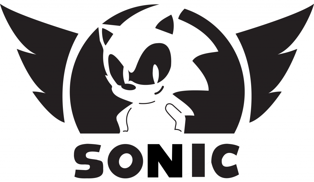 Sonic Stencil Brand Jacko The Hedgehog Wing PNG Image