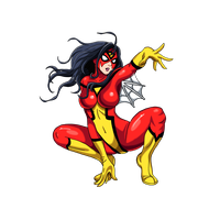 Spider Woman Transparent Background PNG Image