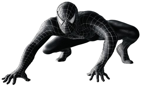 Spiderman Black Image PNG Image