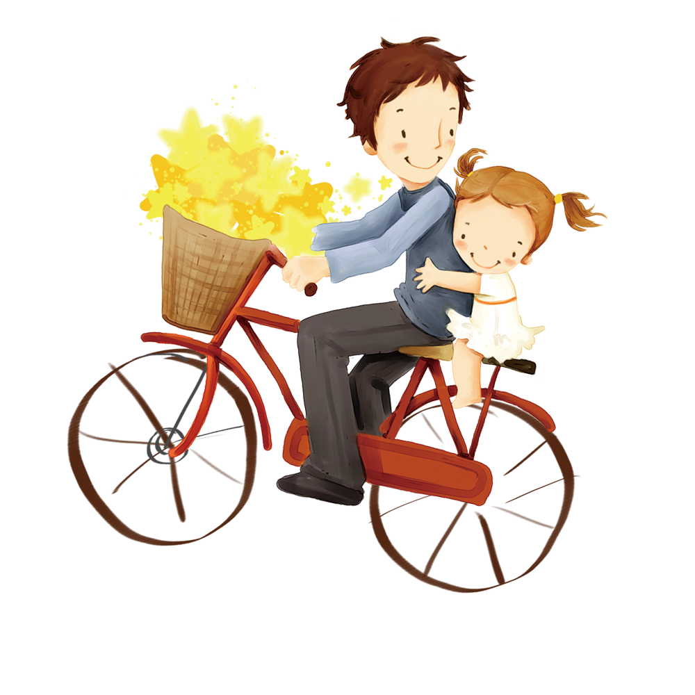 Bicycle Behavior Fathers Father Accessory Human Cartoon PNG Image