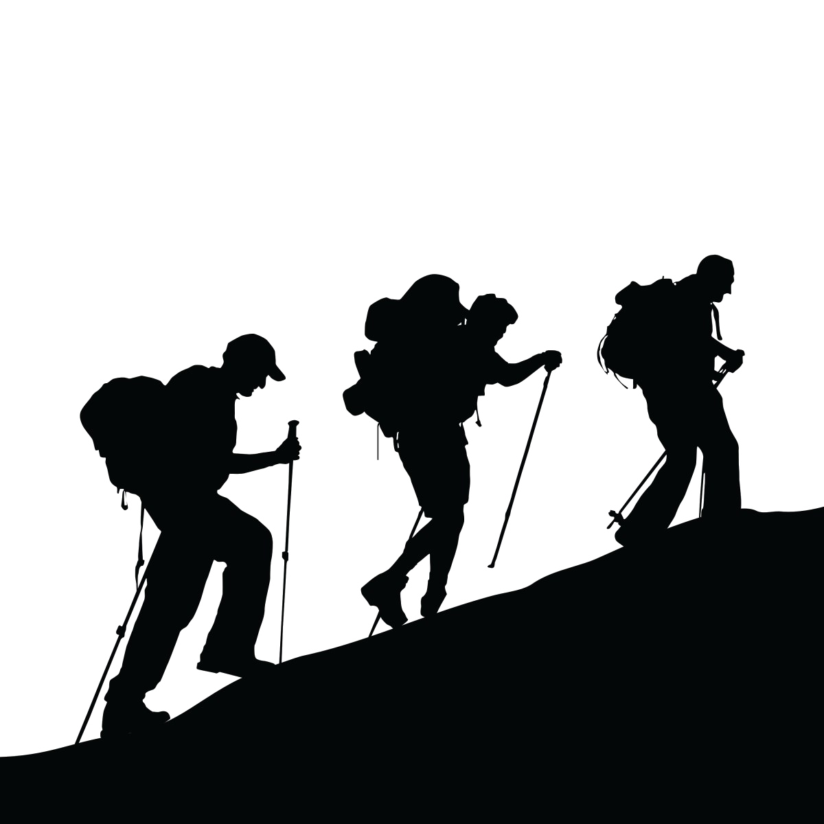 Climbing Silhouette Black Royaltyfree Mountaineering PNG File HD PNG Image