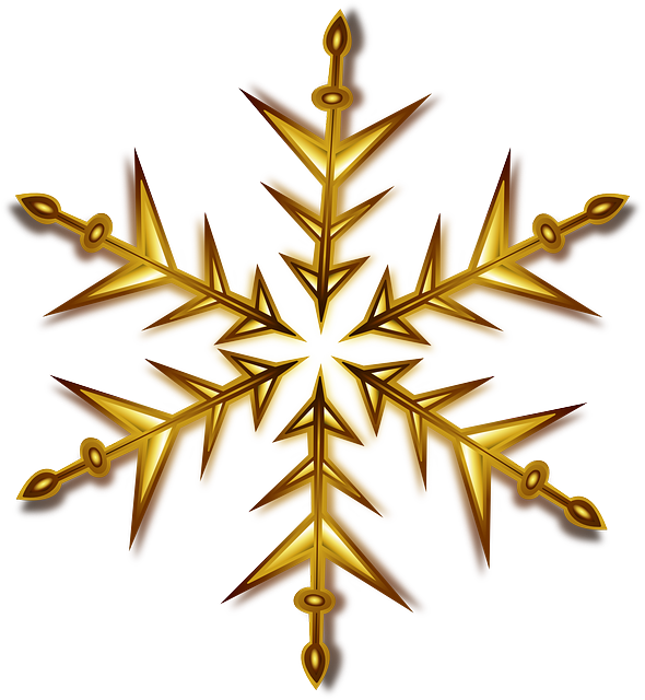 Christmas Gold Star PNG Image