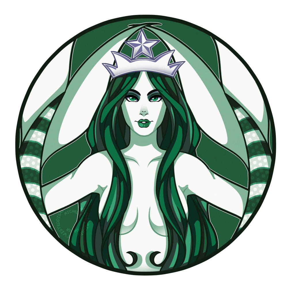 T-Shirt Logo Coffee Starbucks Mermaid Free Transparent Image HQ PNG Image