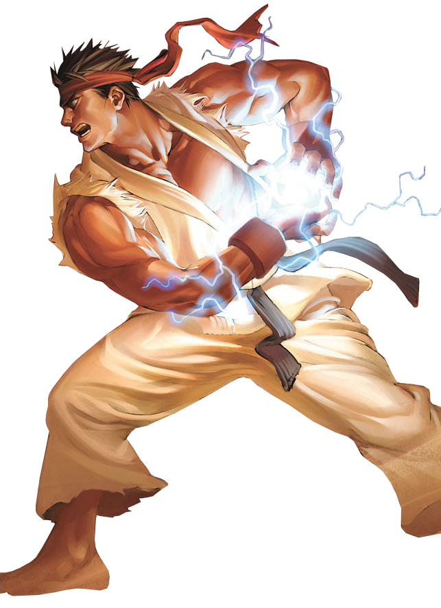 Fighter Character Fictional Street Art Ryu PNG Image