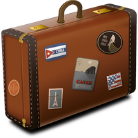 Vintage Suitcase Icon PNG Image