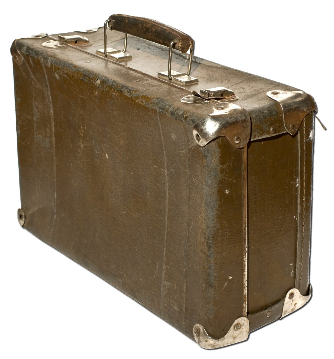 Old Suitcase With Transparent Background PNG Image