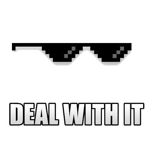 Deal With It Sunglass Transparent Background PNG Image