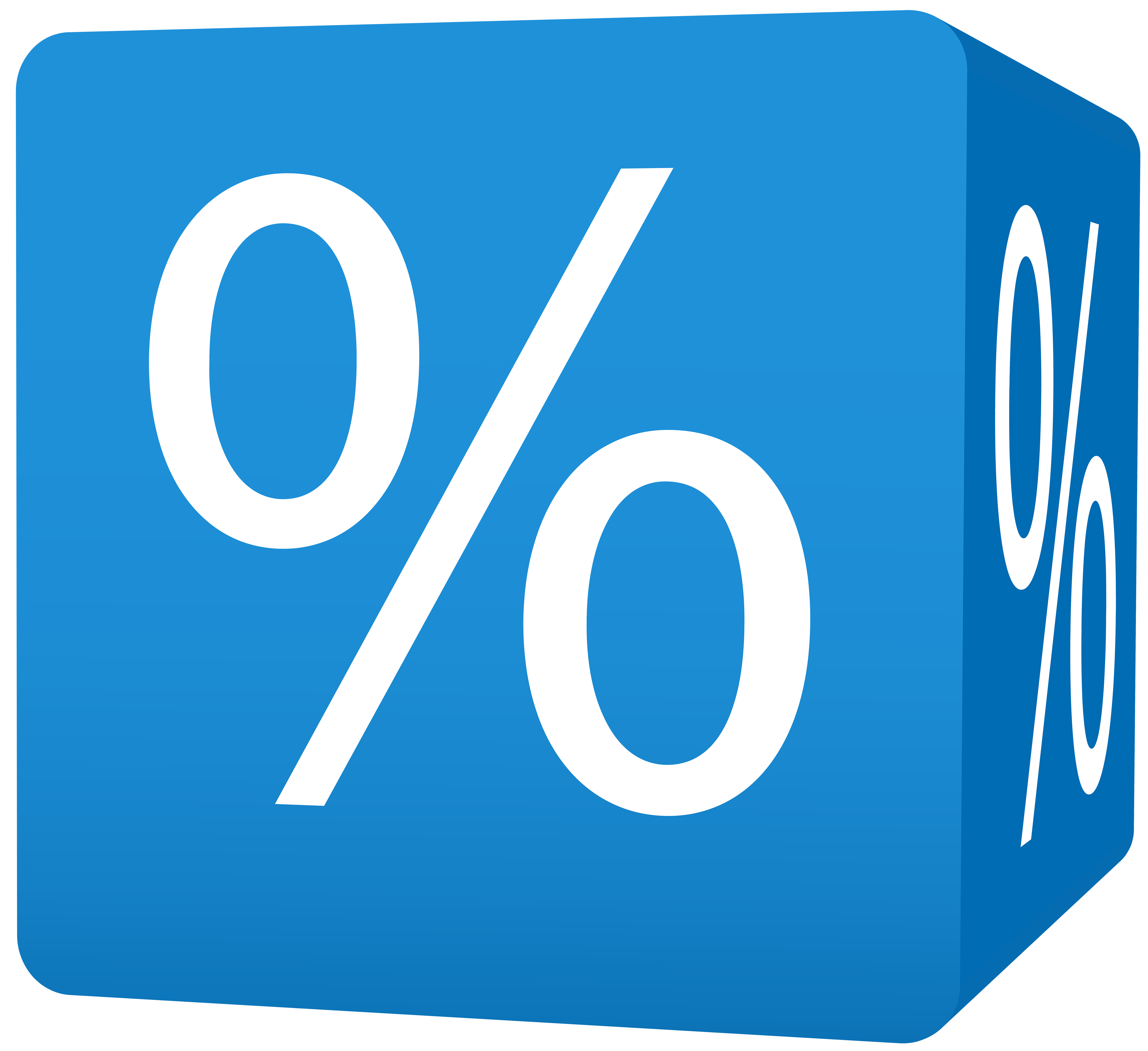 Blue Cube Brand Discount Logo Transparent PNG Image