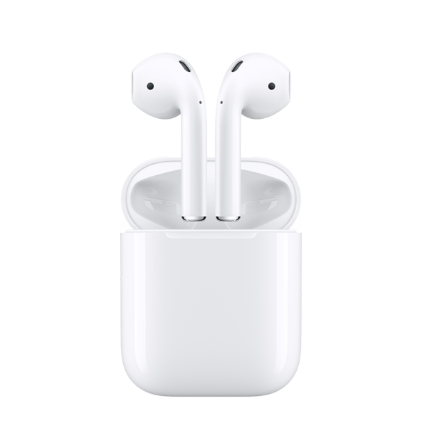 Airpods Tap Apple Iphone White Earbuds PNG Image