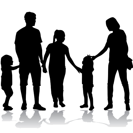 Standing Silhouette Behavior Family Photography Human PNG Image
