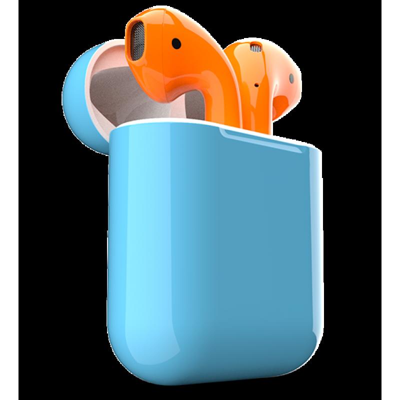Download Airpods Apple Headphones Orange Earbuds ...