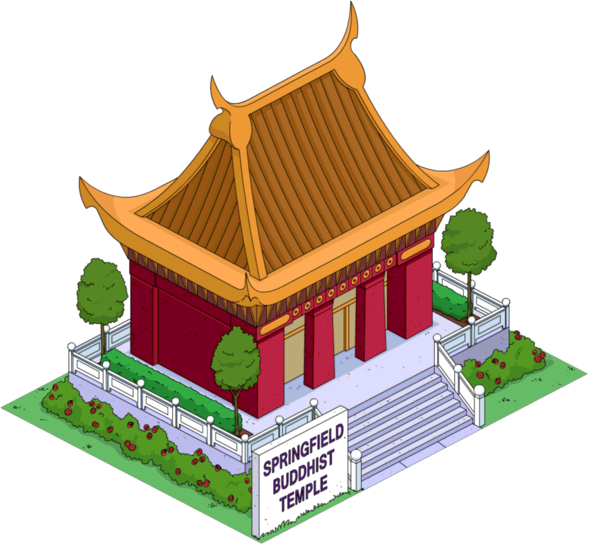 Buddha Temple Transparent Background PNG Image