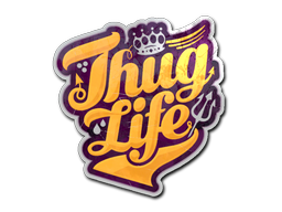 Thug Life Sticker Png PNG Image