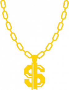 Thug Life Chain Dollar Sign Chain Png PNG Image