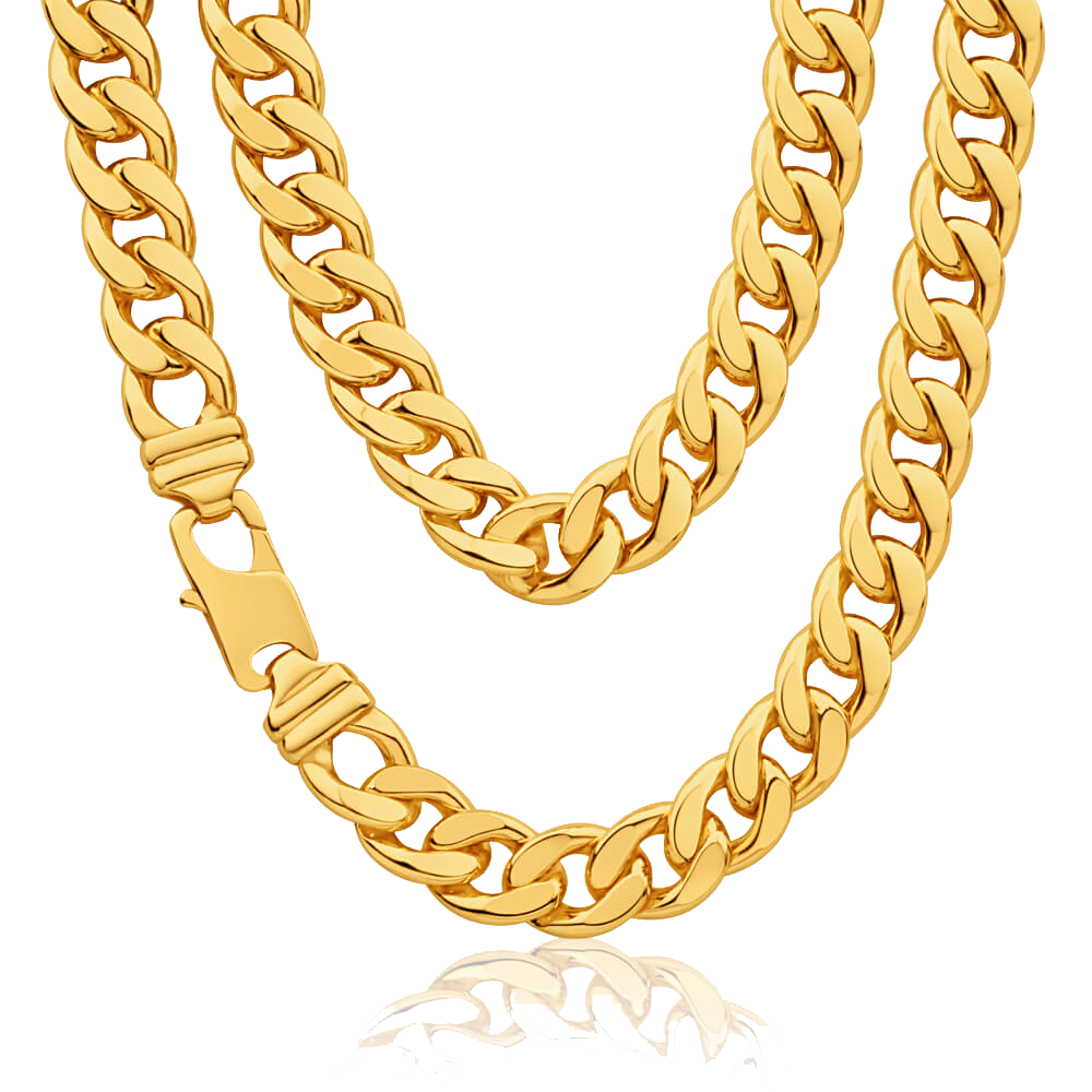 Thug Life Gold Chain Clipart PNG Image