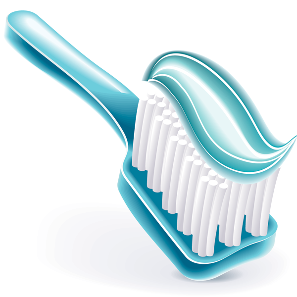 Tooth With Toothbrush PNG Image