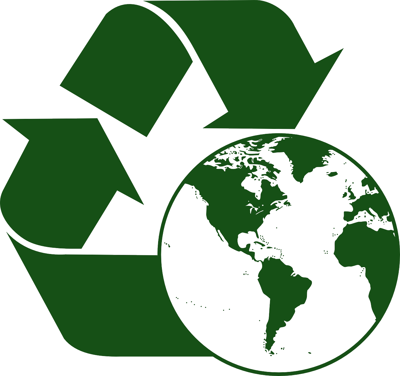 Recycle World Globe Map Download Free Image PNG Image