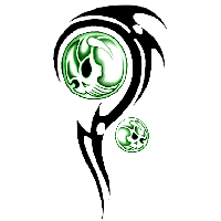 Tribal Skull Tattoos Png PNG Image