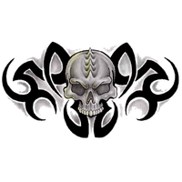 Tribal Skull Tattoos Free Png Image PNG Image