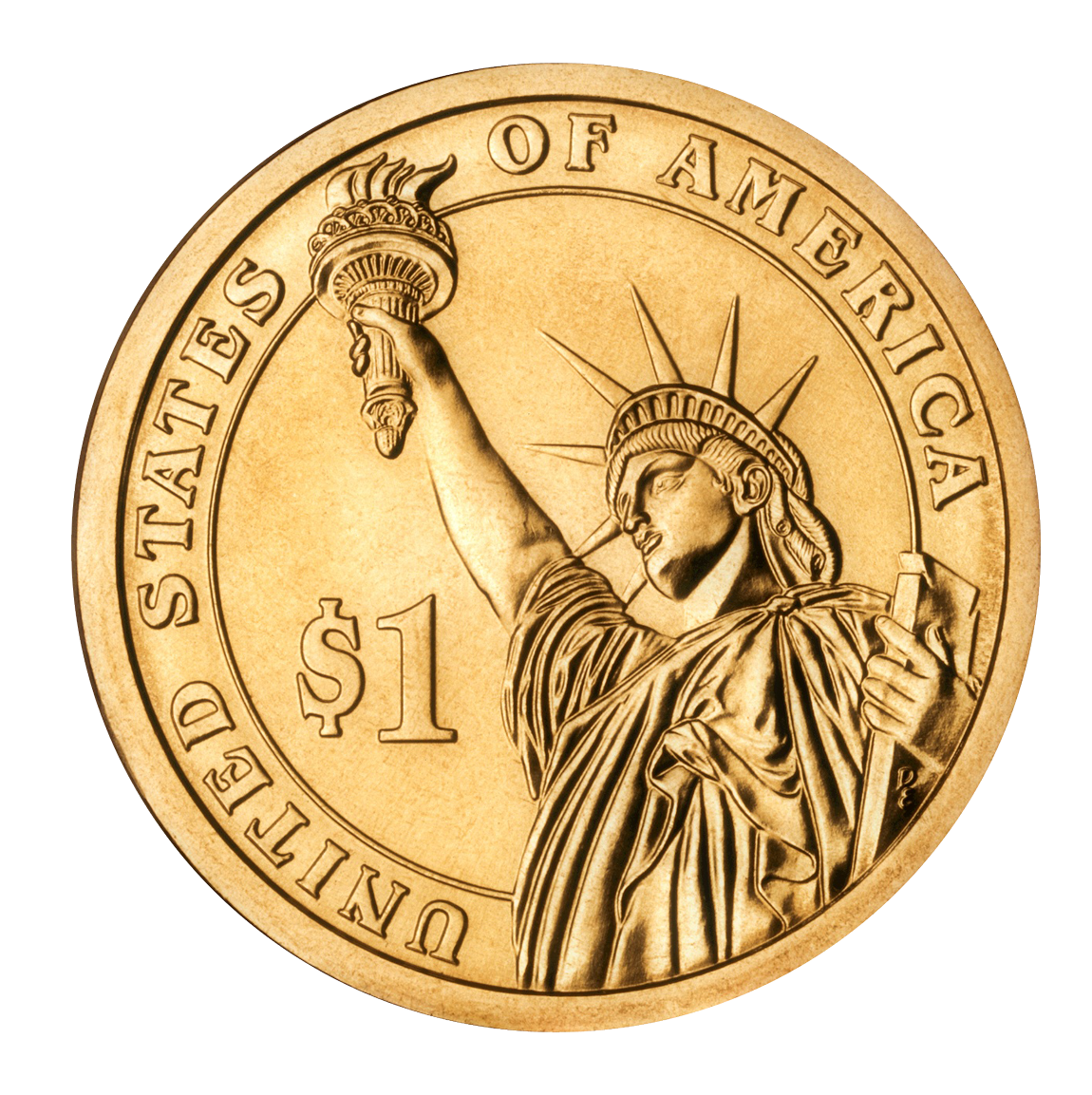 United Dollar States Program Coin Presidential $1 PNG Image