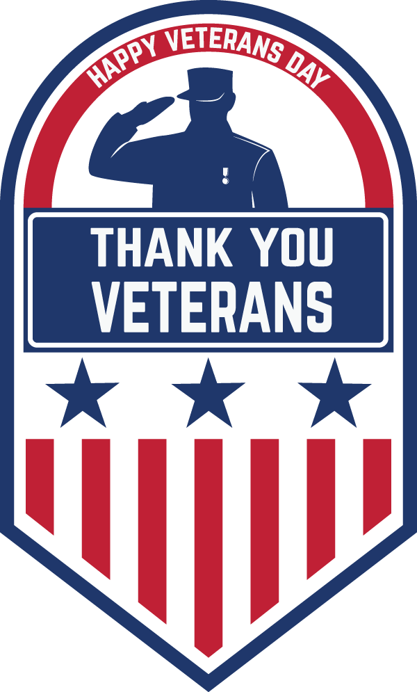 Blue United Text Veteran States Veterans Day PNG Image