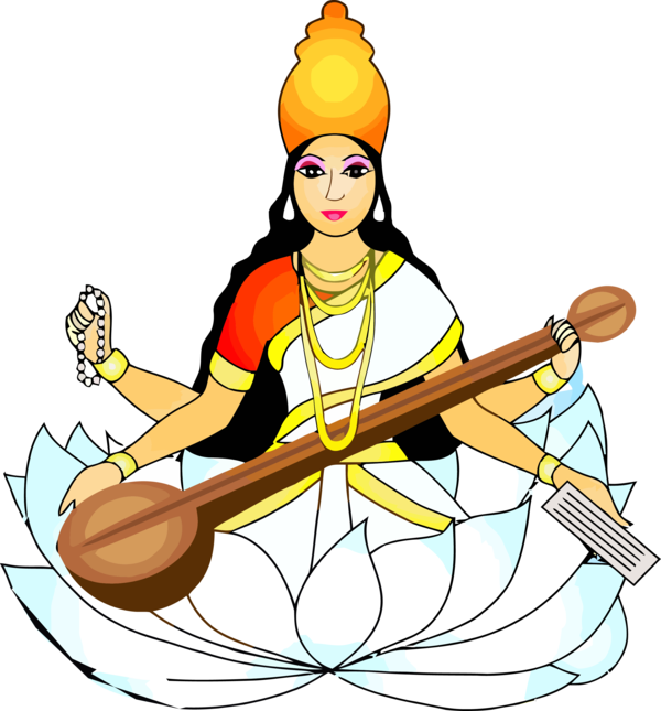 Vasant Panchami Indian Musical Instruments Instrument For Happy Themes PNG Image