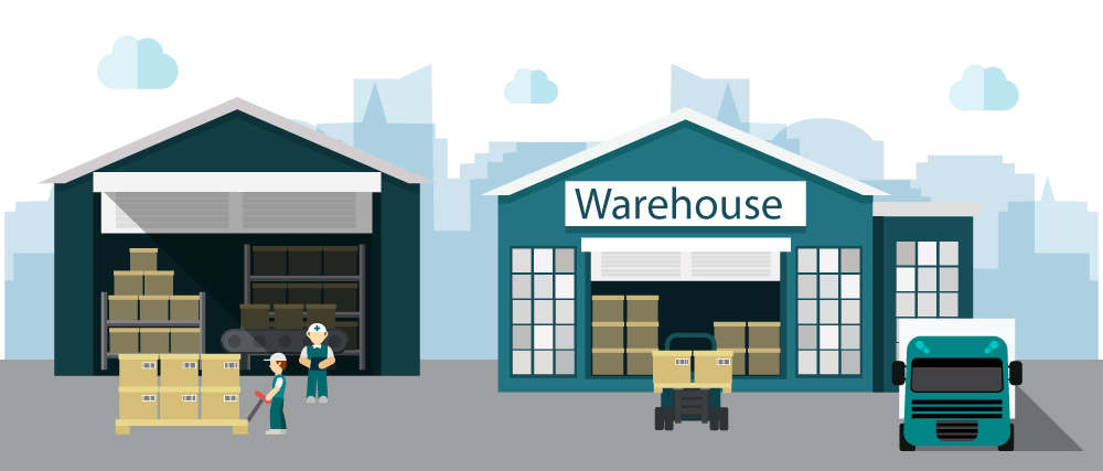 Business Factory Vector Warehouse Distribution Store PNG Image