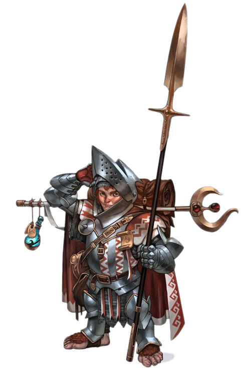 Roleplaying Pathfinder Spear Dungeons Halfling Dragons Game PNG Image