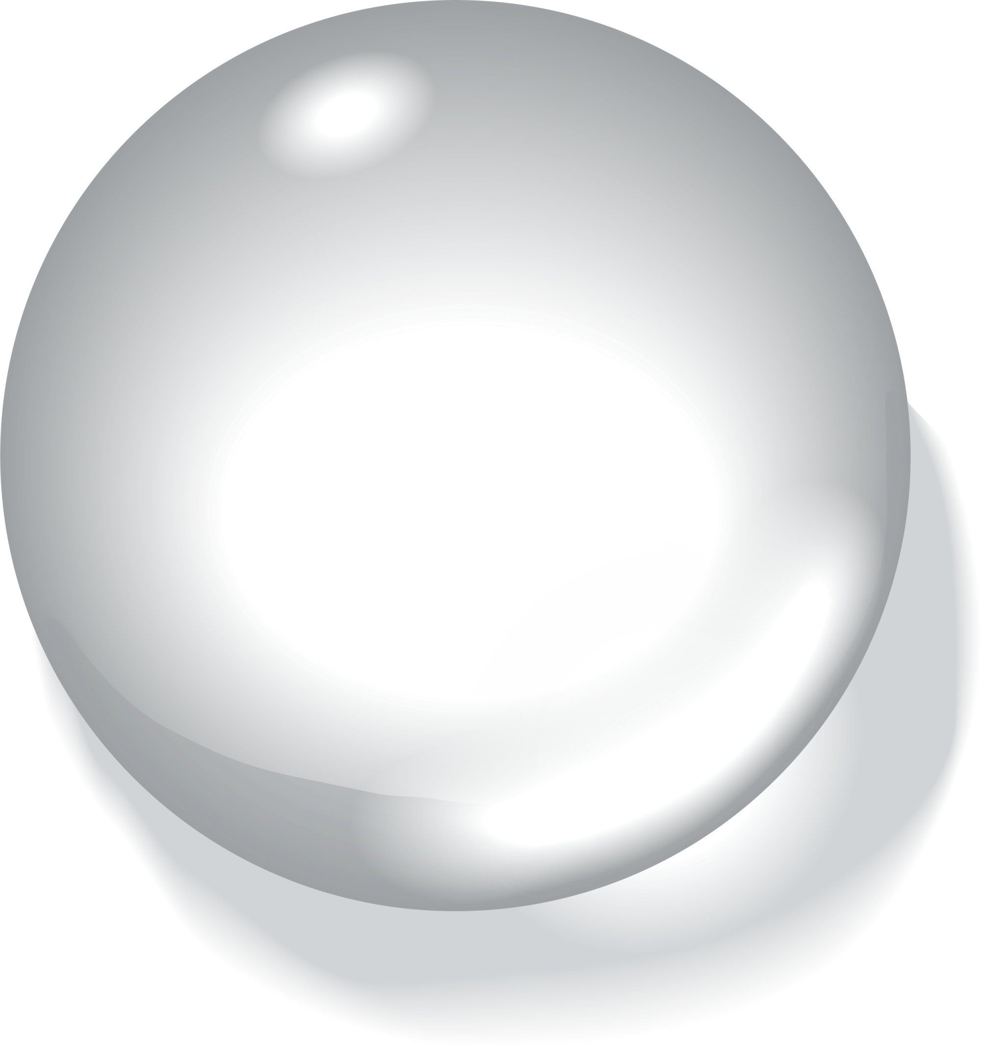 Oval Sphere White Drop Free Frame PNG Image