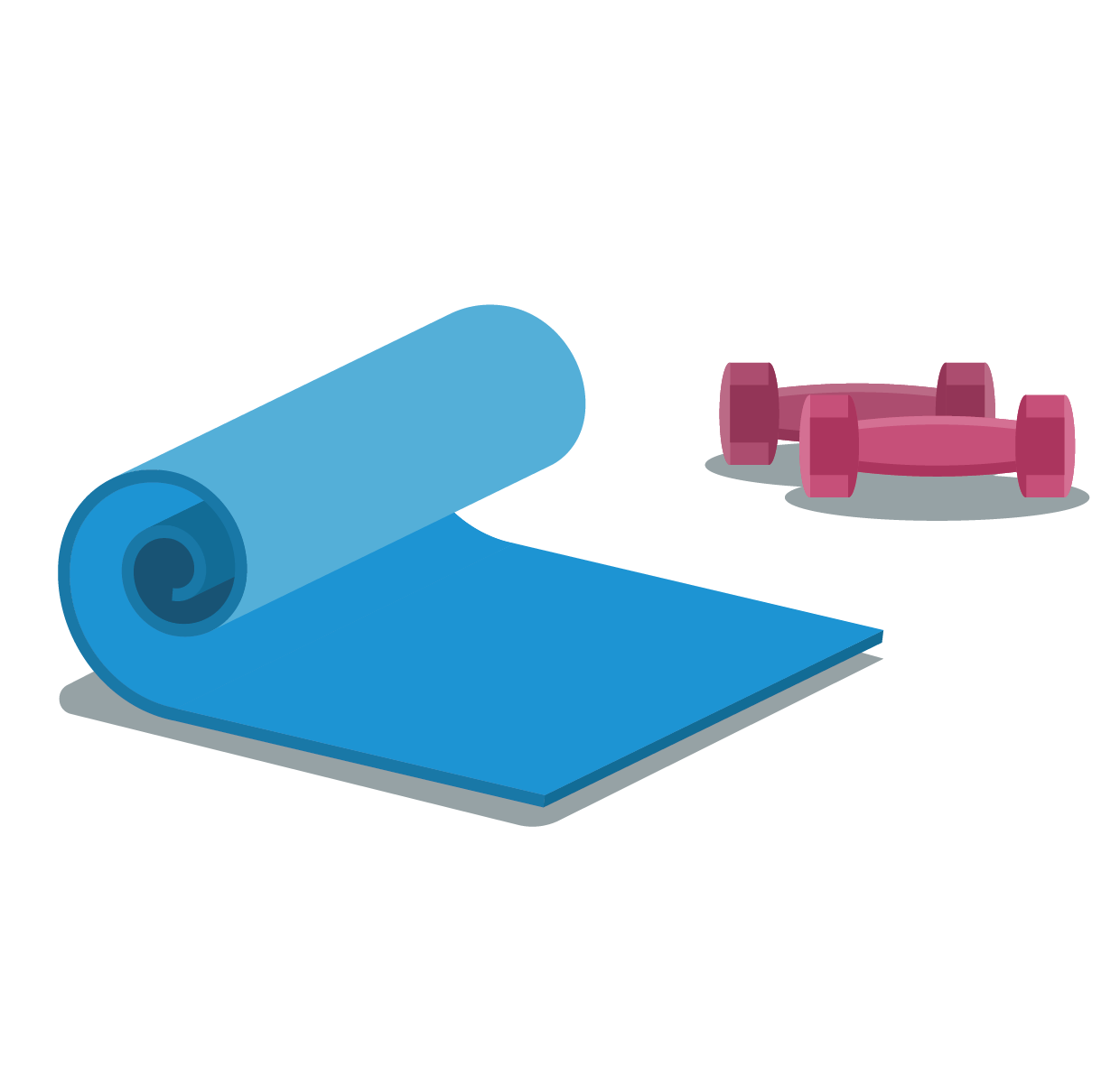 And Dumbbells Yoga Mat Vector Dumbbell PNG Image